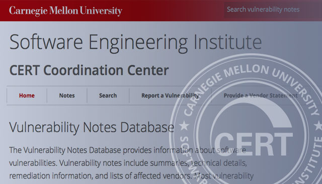 SEI Launches New CERT Vulnerabilities Website